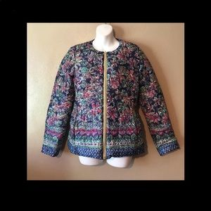 Lily Pulitzer size S reversible navy puffer jacket